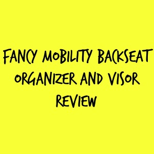 Fancy Mobility Backseat Organizer and Visor Review